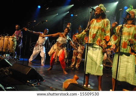 "Vancouver, Canada, 22 June 2008: ""Toby Foyeh and Orchestra Africa"" perform in Vancouver, Canada"