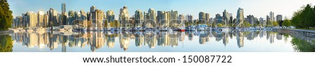Vancouver, Canada's False Creek district/False Creek - stock photo