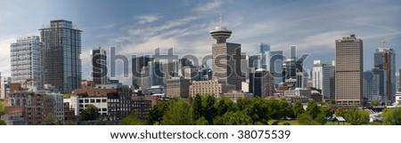Vancouver CBD Panorama - stock photo