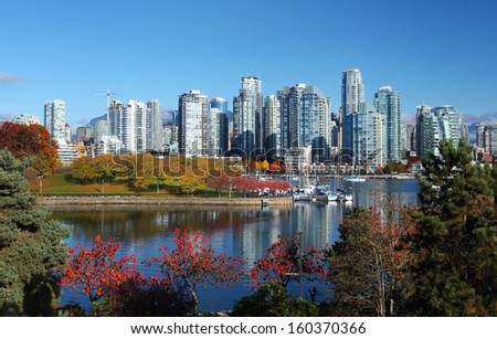 Vancouver in British Columbia, Canada - stock photo