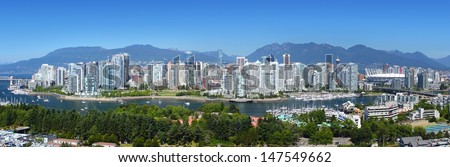 Vancouver panorama - stock photo