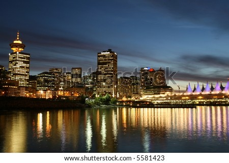 Vancouver's Central Business District - stock photo