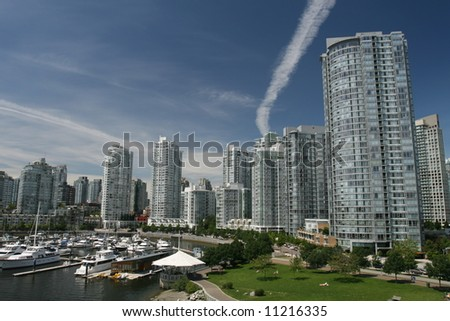 Vancouver's Modern Yaletown Waterfront - stock photo