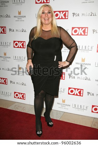 Vanessa Feltz arriving for the Pia Michi Prom wear fashion show at the Millenium Hotel, London. 15/02/2012 Picture by: Alexandra Glen / Featureflash
