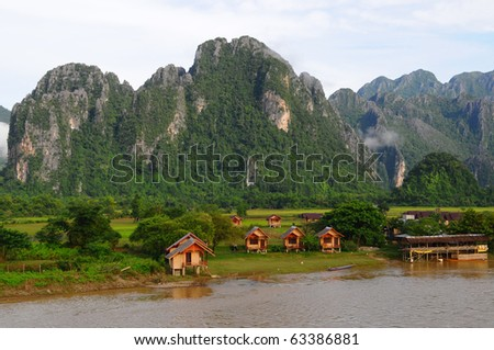 Vang Vieng, Laos - stock photo