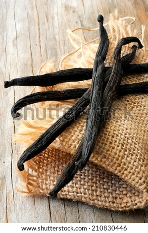 vanilla bean for dessert cooking - stock photo