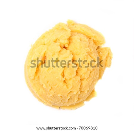 Vanilla ice cream scoop - stock photo