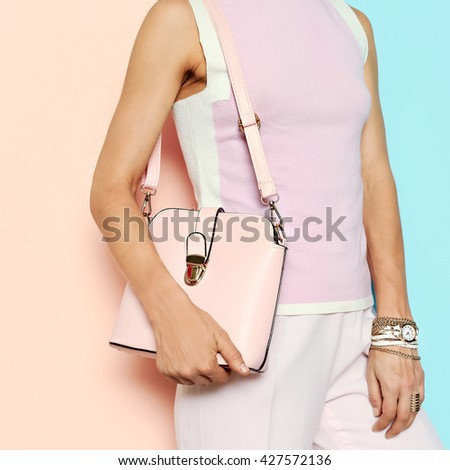 Vanilla Summer Style. Pastel colors trend. Glamorous Pink Clothing & Accessories