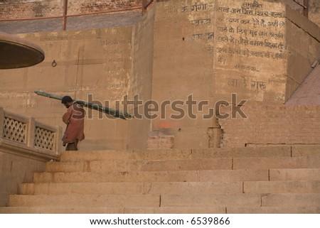 Varanasi Life 1 - stock photo