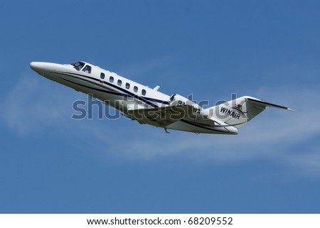 VARAZDIN, CROATIA - JUNE 12: Cessna Citation on the Varazdin airshow, Croatia, June 12, 2009