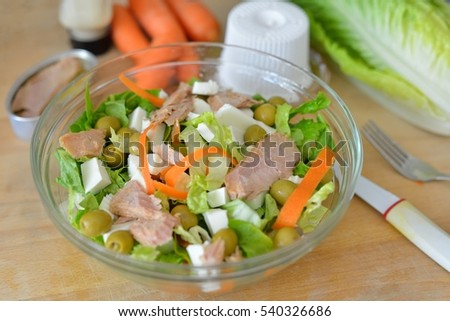 Varied and healthy salad.