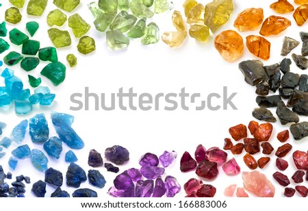 Variegation in colorful gems. - stock photo