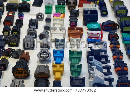 Variety of automotive electrical multi pin plastic connectors