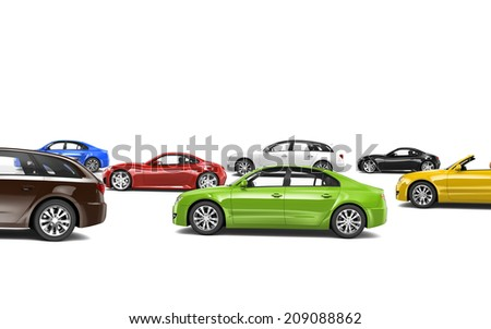 Variety of Car Collection - stock photo