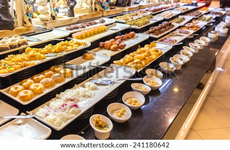 Variety of desserts of eastern countries style - stock photo