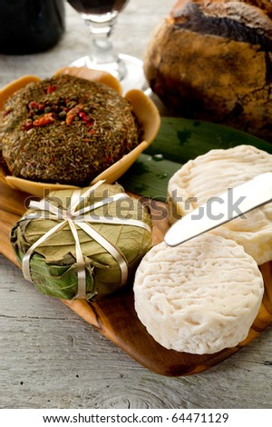 variety of french cheese - stock photo