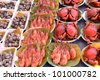 Variety of grilled seafood, selling at Amphawa floating market, Thailand - stock photo