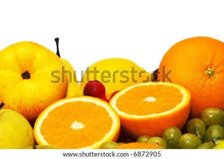 Variious fruits isolated on the white background- more from these series in my portfolio