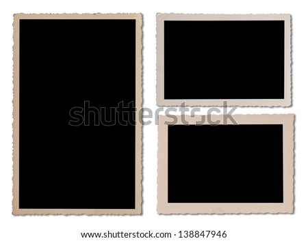 Various antique photo frames for your design work. Clipping path included. - stock photo