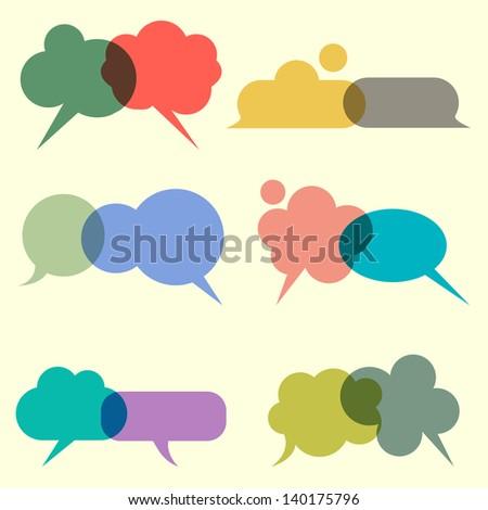 Various bubbles for speech.  Raster version - stock photo