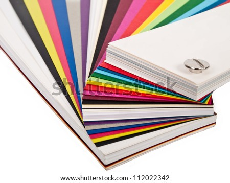various colorful papers for designers