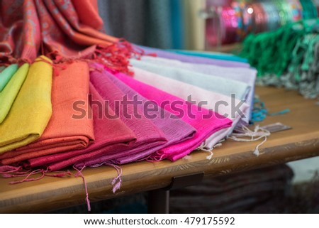 Various different colors silk fabric cloth