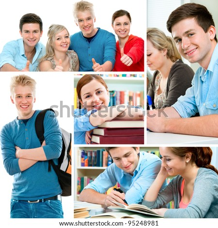 Various education related images in a collage