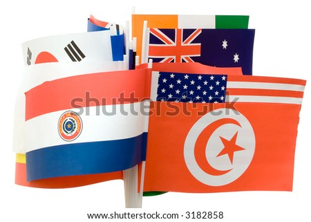 Various Flags - stock photo
