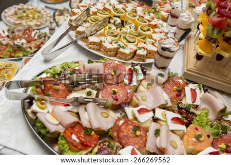 Various food on the table - stock photo