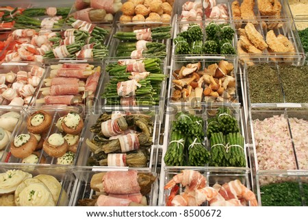various frozen food for restaurant - stock photo