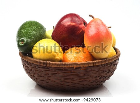 Various fruits as a background
