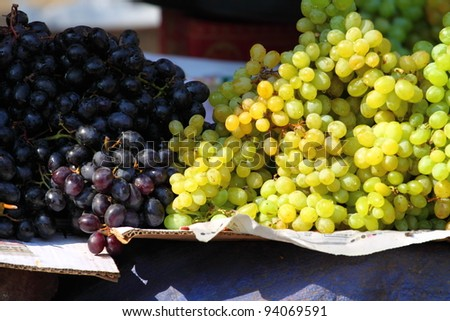 Various fruits at vegetable market. India