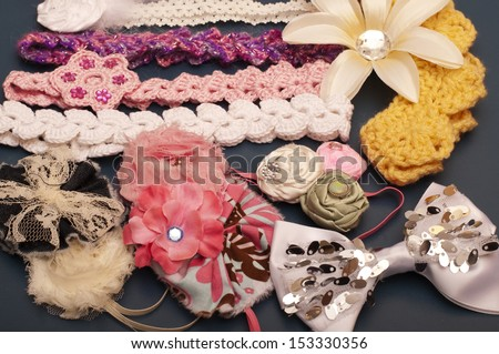 Various headbands and other hair accessories - stock photo