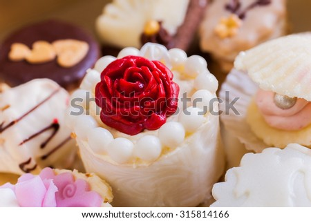 Various kinds of confectionery - stock photo