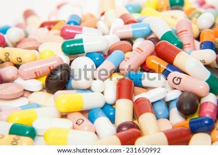 Various pharmaceuticals - stock photo
