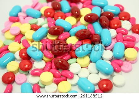 various pills and tablets - stock photo