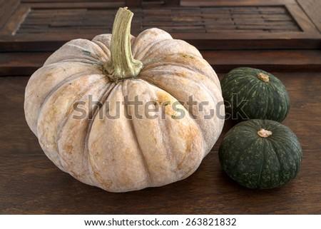 Various pumpkins - stock photo