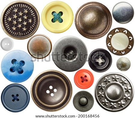 Various sewing buttons. - stock photo