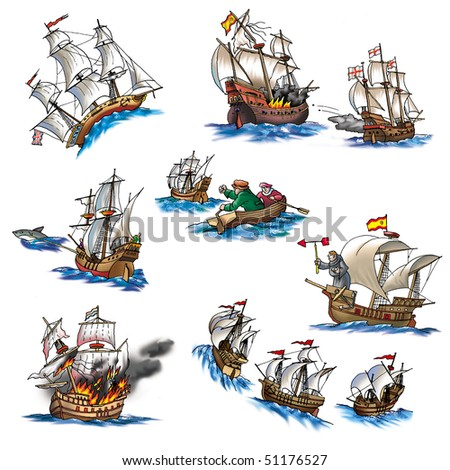 Various ships, boat and more_5 - stock photo