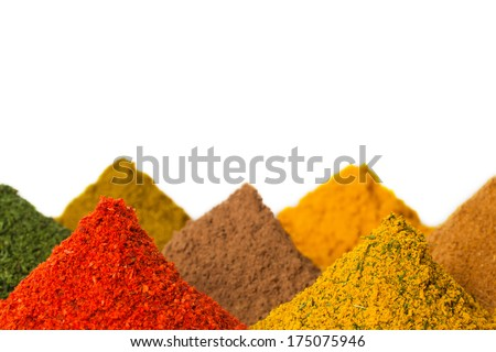 Various spices closeup