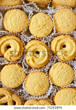various style of cookies in set - stock photo