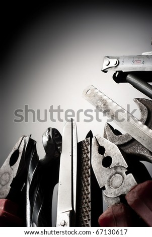 Various tools and instruments - stock photo