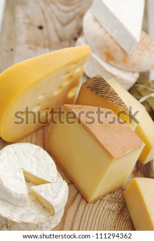 Various types of cheese composition - stock photo