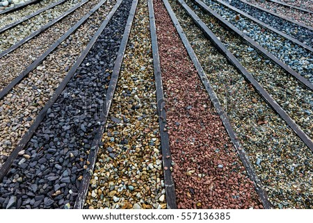 Various Types Stone Gravel Pebbles Garden Stock Photo (Royalty Free)  557136385   Shutterstock
