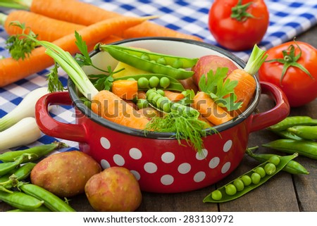Various Vegetables in the pot