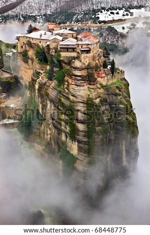 Varlaam monastery in Meteora - stock photo