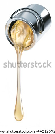 varnish can isolated - stock photo