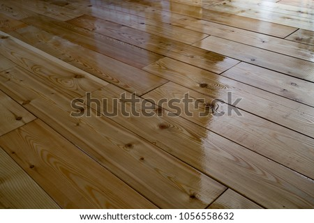Varnished Wooden Floor Stock Photo Royalty Free 1056558632