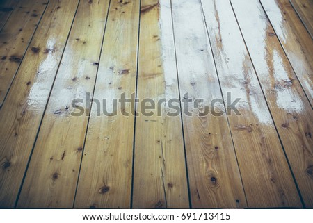Varnished Wooden Floor Stock Photo Royalty Free 691713415