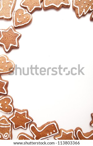 Varoius Homemade Gingerbread Cookies With Different Shapes for Christmas